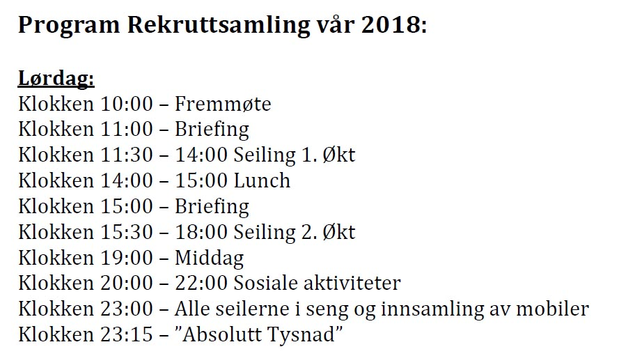 Program og praktisk informasjon for samlingen